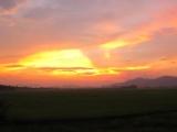 Schon wieder ein Sonnenuntergang. Dieses mal von der Phong Nha Farmstay aus...