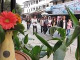 Auch in Xingping stroemen die chinesischen Touristen in Massen...