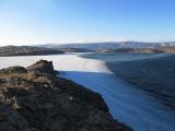 Die Bucht am zufrieren