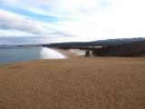 Blick auf den Sandstrand