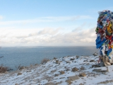 Blick vom Kap auf den Baikal