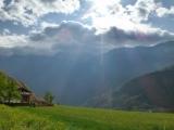 Trotz Wolken am 1. Tag ergeben sich wunderbare Ausblicke...