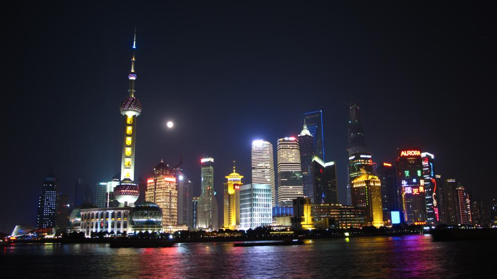 Pudong by Night mit Vollmond_IMG_9586