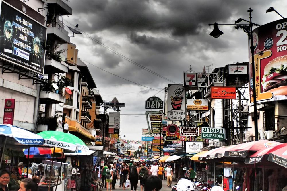 Geladene Stimmung in der Khao San Road_P8200223